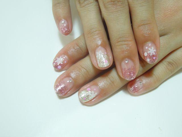Pink Lame Nail_a0239065_172742100.jpg