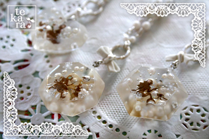雪景色の宝石&小瓶完成*_a0139874_23221755.jpg
