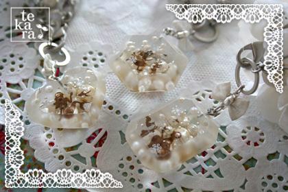 雪景色の宝石&小瓶完成*_a0139874_23264037.jpg