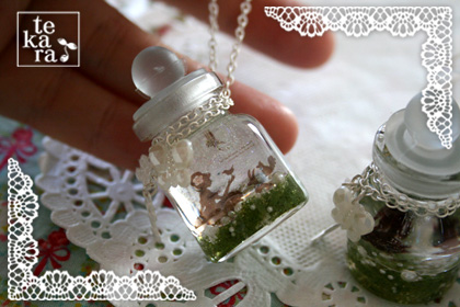 雪景色の宝石&小瓶完成*_a0139874_23322555.jpg