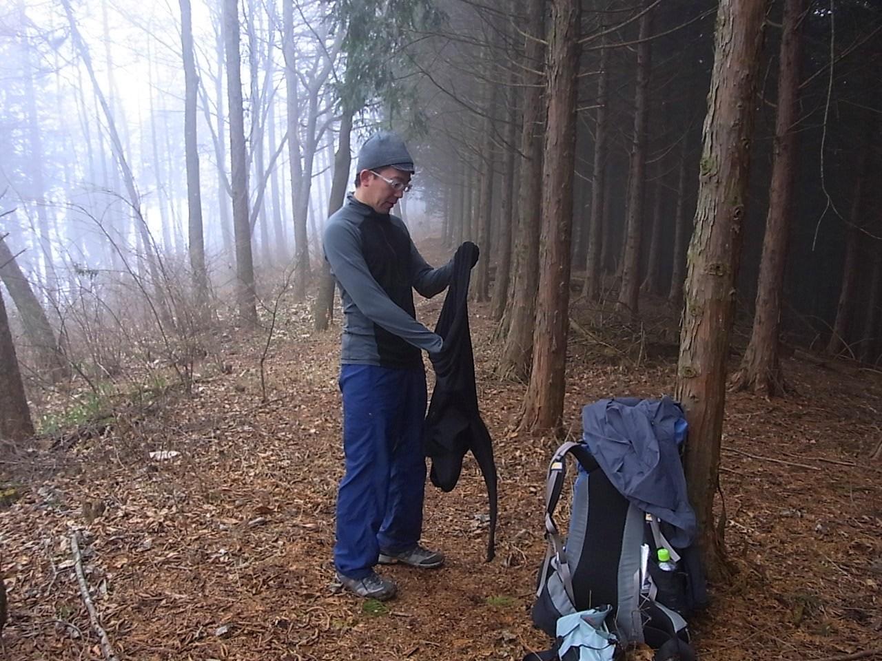 2012.12.23 笹尾根を大きなバックパックで歩く_b0219778_231565.jpg