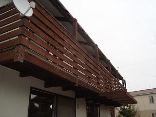 木製バルコニーとデッキのリフォーム_f0059988_15492853.jpg