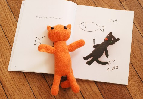 手袋で作った猫のぬいぐるみ_b0253205_9312334.jpg