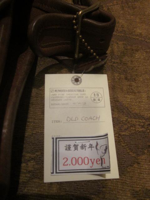 ビバリーヒルズ OLD COACH 新春入荷情報!!_a0108963_10282297.jpg