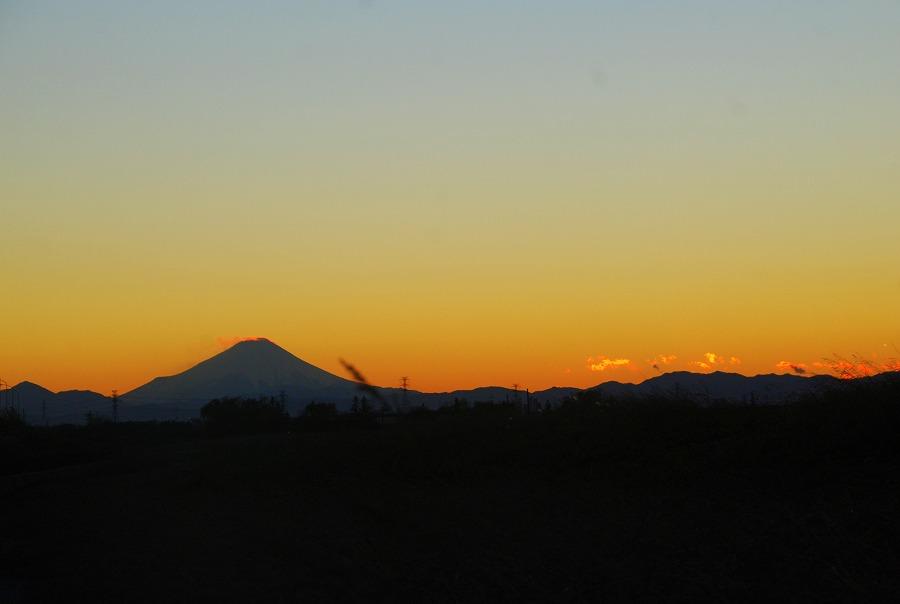 夕茜に富士山_c0187781_22143911.jpg