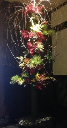 【湯どの庵】フラワーアーティストCHAJINさんの迎春_f0159629_17122418.jpg