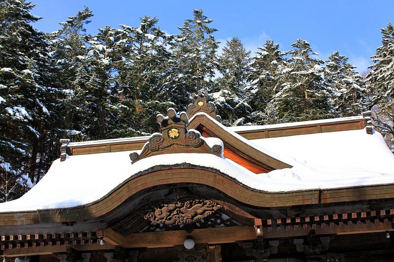 神札をいただきに義経神社へ _a0160581_8184540.jpg