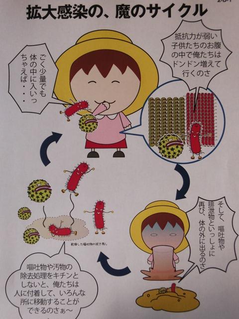 ノロウイルス対策は嘔吐物の処理と手に触れる箇所の殺菌、決定的ノロウイルス対策とインフルエンザ対策紹介_d0181492_1184253.jpg