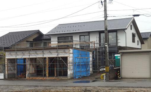 Q1X3富山の家:車庫施工中_e0054299_11122042.jpg