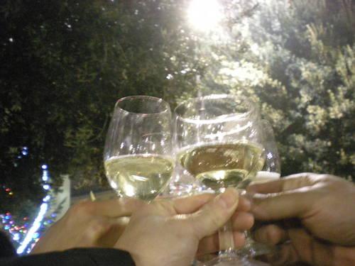 日本人5人+イタリア人の新年の乾杯!!!_c0179785_1732414.jpg