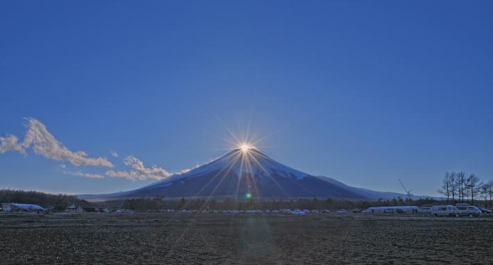 花の都公園ダイヤモンド富士_a0150260_226237.jpg