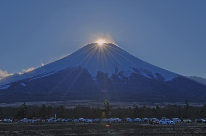 花の都公園ダイヤモンド富士_a0150260_226427.jpg
