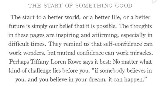 新年の読書に良いかも? ポジティブ名言本ビリーブ〔Believe: A gift to celebrate new beginnings〕_b0007805_12443966.jpg