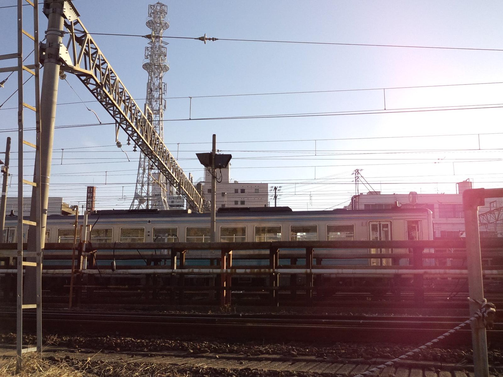 松山運転所で朝ビラ_d0155415_8502061.jpg