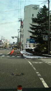【参院選2013】残雪の三次市内で、街頭演説・挨拶まわり_e0094315_13492064.jpg