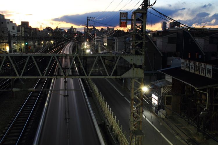 中野  高木製材所のある夕景_b0061717_222212.jpg