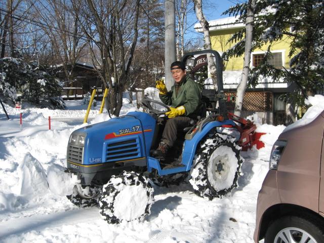 雪が降りましたネ!_f0146620_178772.jpg