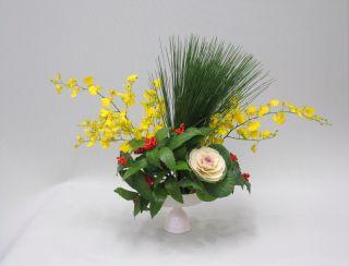 万年青で生ける新春の花_c0165824_2242257.jpg