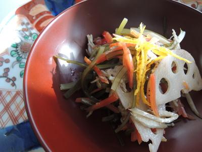 おせちの残り野菜のアレンジ_b0252363_14162060.jpg