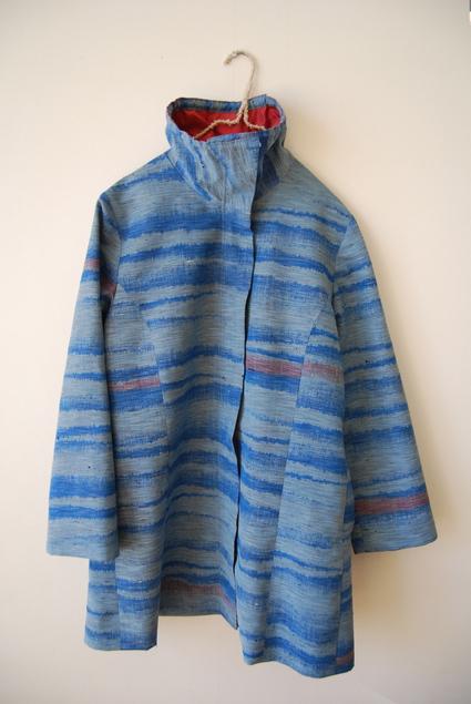 着物リメイク・紬のジップアップコート_d0127925_1512233.jpg