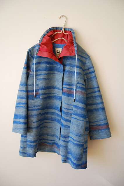 着物リメイク・紬のジップアップコート_d0127925_15124486.jpg