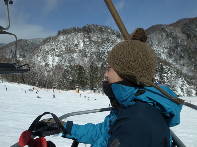 息子のスキーデビュー、お正月のめいほう_e0271890_16572057.jpg