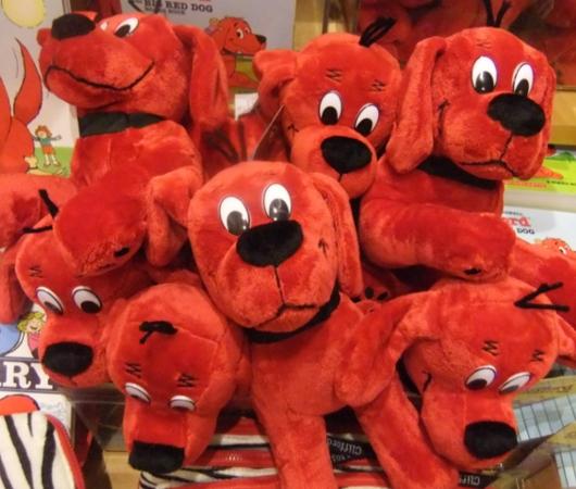 NY生まれのワンちゃんの人気絵本キャラクター Clifford the Big Red Dog_b0007805_12432666.jpg