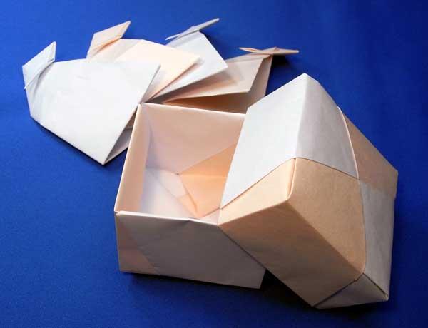 ハート 折り紙 折り紙 箱 ユニット : arigozira.exblog.jp