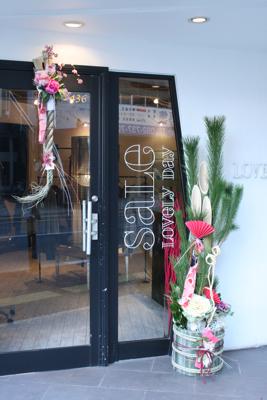 "2013 \""LOVE  TRIP& Lーsalon\"" しめ飾り&門松_e0149863_1528039.jpg"