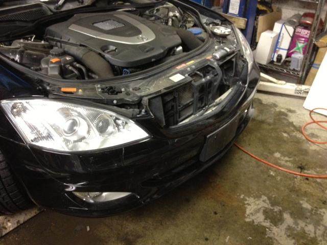 ベンツ AMG S550 W221 エアロ マフラー 取付 札幌 トミー_b0127002_22594477.jpg
