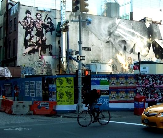 冬の陽射しに包まれたニューヨークSOHOの街並み_b0007805_20535554.jpg