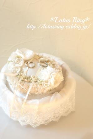 weddingリングピロー*_a0169912_13185845.jpg