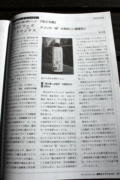 ストアジャパンにちこり茶_d0063218_9503488.jpg