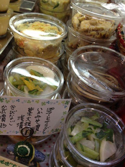 本日の手づくりお惣菜♪ぽてとサラダ、いかみそ漬け、葉大根浅漬、きびなご、かぶ漬物♪_c0069047_16271915.jpg