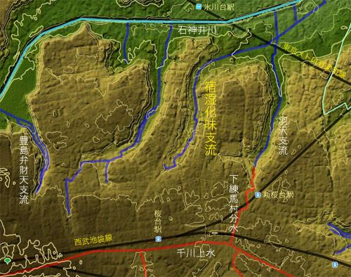 水田のなかった谷戸。宿湿化味の谷の川跡を辿る。_c0163001_2334461.jpg