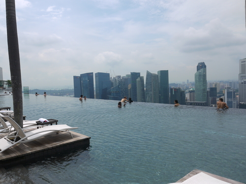 シンガポールへの旅(5)―マリーナ・ベイ・サンズ、プール_e0123104_612391.jpg