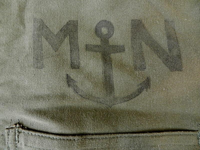 French marine deck salopette dead stock _f0226051_12575315.jpg