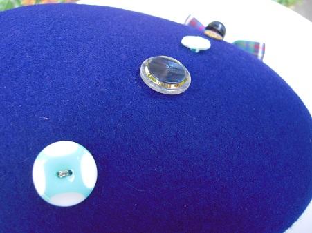 帽子作り体験教室参加作品 ☆オールブルー系の惑星ベレー☆_d0189661_1721767.jpg