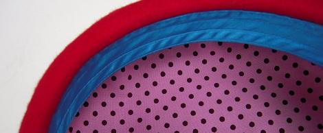帽子作り体験教室参加作品 ☆アフターアレンジ楽しみいっぱいベレー帽☾_d0189661_1830179.jpg