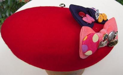 帽子作り体験教室参加作品 ☆アフターアレンジ楽しみいっぱいベレー帽☾_d0189661_18311744.jpg