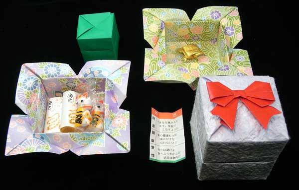 ハート 折り紙:折り紙 プレゼント 箱-arigozira.exblog.jp