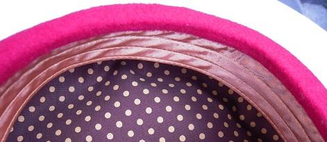 帽子作り体験教室参加作品 ☆サーティーンガーリィなベレー☆_d0189661_1643457.jpg
