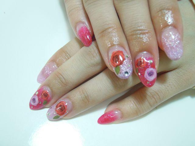 Rose Nail_a0239065_18345743.jpg