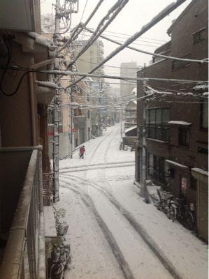初雪とゲリラ豪雪と帰宅困難者になりませんように_f0113361_1441999.jpg