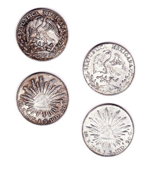 メキシコ 8Reales 貿易銀 1882年_c0027285_23162.jpg