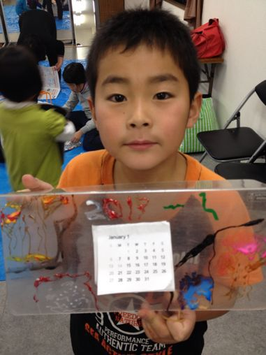 カレンダー作り〜東香里教室_f0215199_1720991.jpg