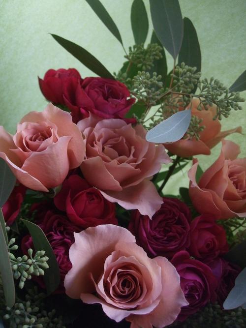 オークリーフ(ジュリアとセンティッドナイトの花束)_f0049672_17163129.jpg