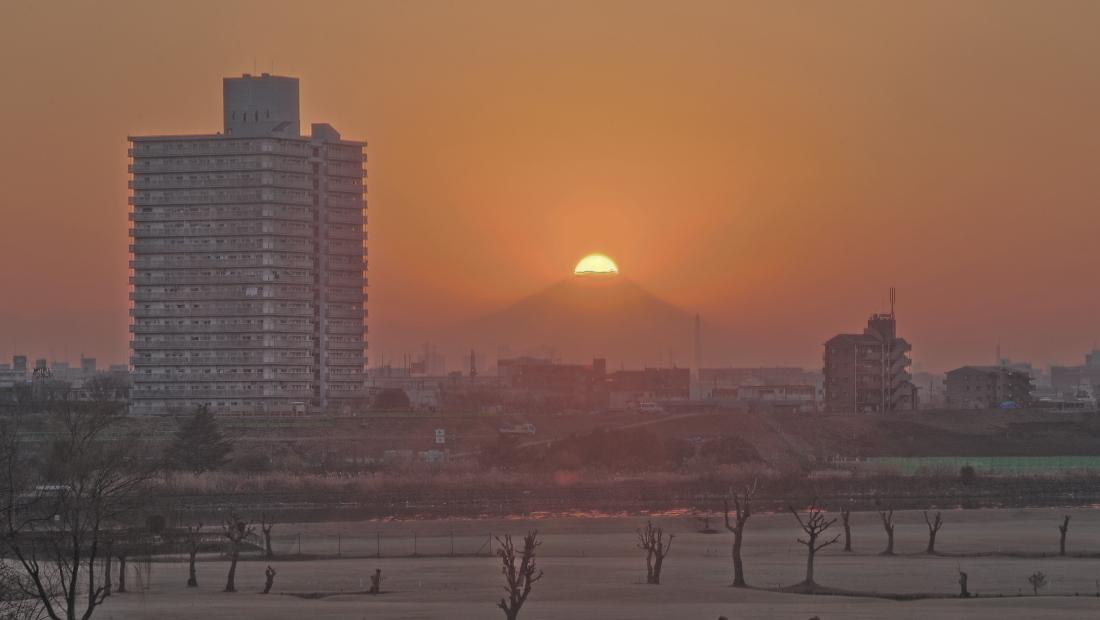 埼玉県川口市ダイヤモンド富士_a0150260_20353036.jpg