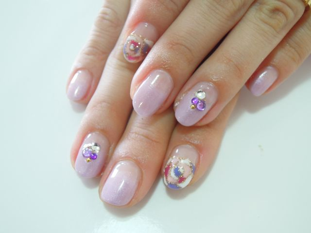 Pickup Nail〜Purple_a0239065_15153816.jpg