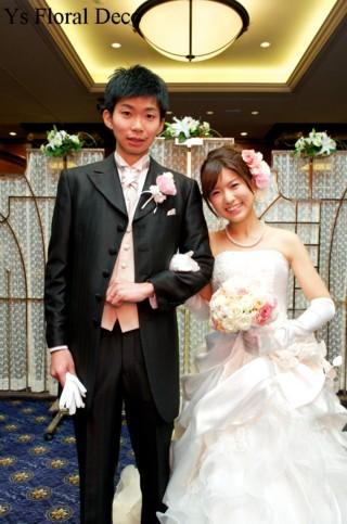 やわらかな色合いのラウンドブーケ ウェスティンホテル東京さんへ_b0113510_22562336.jpg